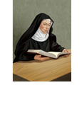 POF Card-Saint Gertrude the Great