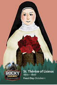 Rocky Railway VBS Day 1 St. Therese of Lisieux Saint Card