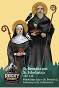 Rocky Railway VBS Day 5 Saints Benedict & Scholastica Saint Card