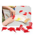 Rocky Railway VBS Red Craft Feathers Pkg/30