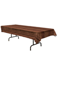 Rocky VBS Wood Pattern Plastic Table Cover