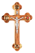 Unique Olive Wood Wall Crucifix