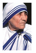 Mother Teresa Prayer Card, Spanish Edition
